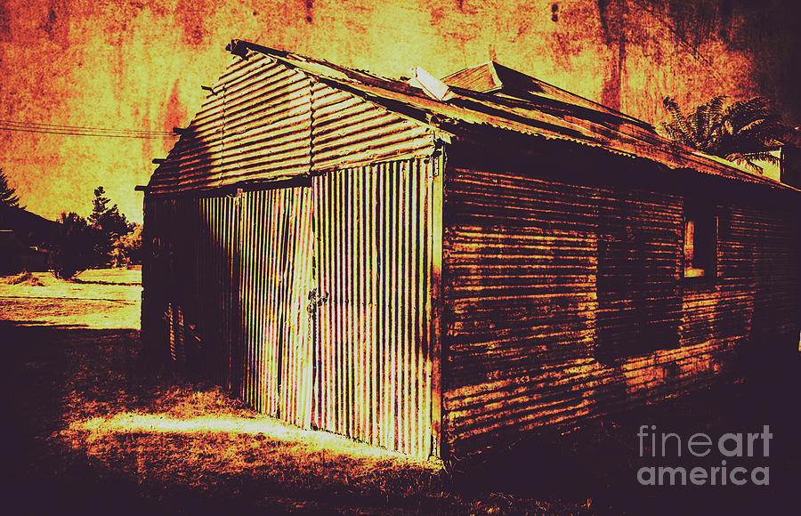 Texture Photograph - Weathered Vintage Rural Shed by Jorgo Photography - Wall Art Gallery