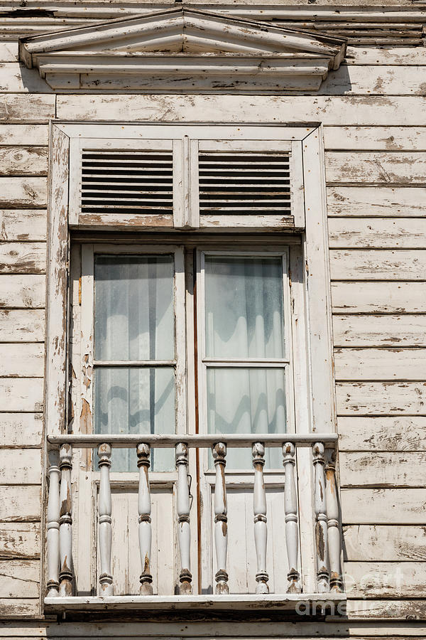 Princes Islands Photograph - Weathered Window Balcony by Bob Phillips