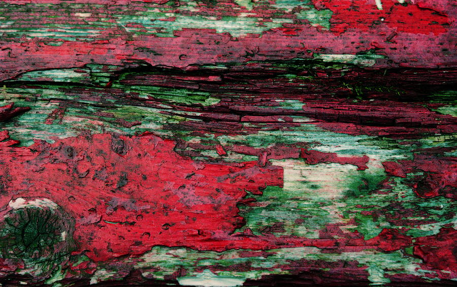 Red Photograph - Weathered Wood 3 by Jeff Montgomery