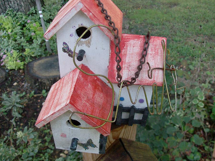 Bird Photograph - weathering birdhouse Smith style by Bob Smith