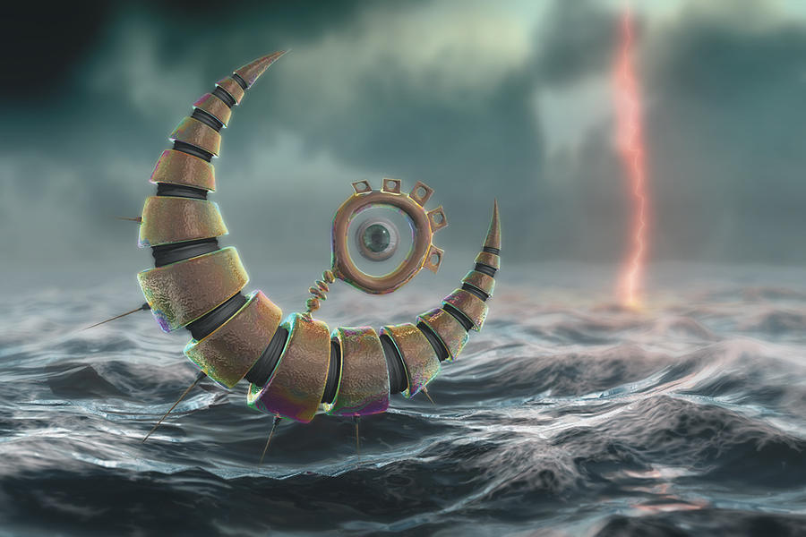 3d Digital Art - Weathering The Storm by Damian Kafe