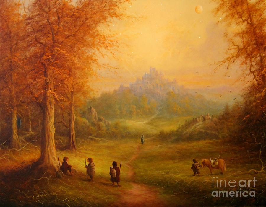 Tolkien Painting - Weathertop by Joe  Gilronan