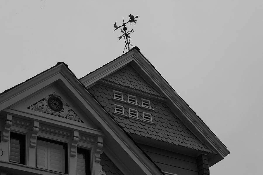 Weathervane in Black and White by Suzanne Gaff