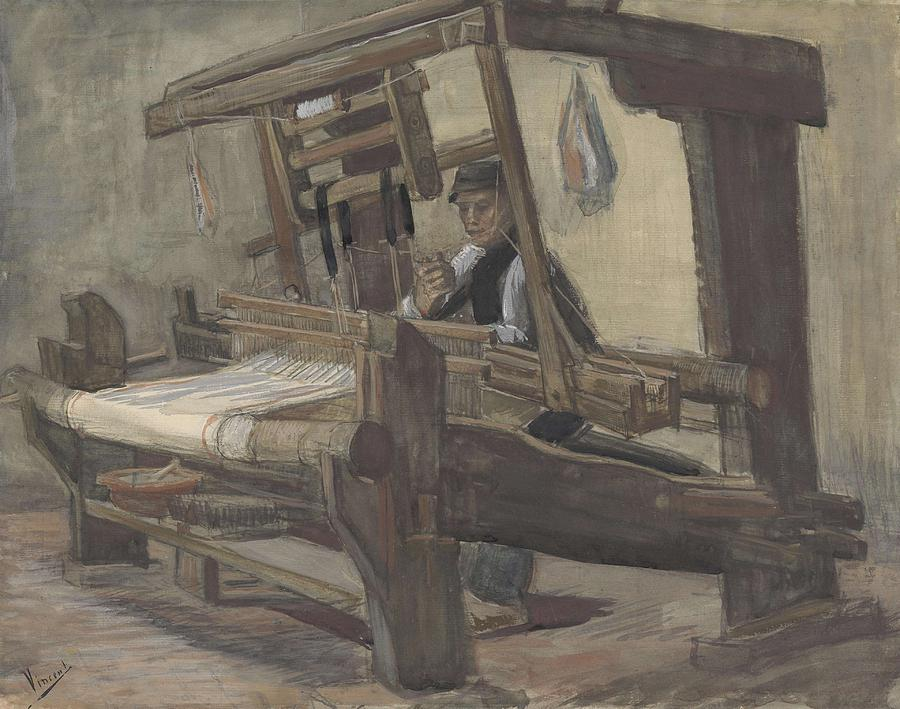 Man Painting - Weaver Nuenen, December 1883 - August 1884 Vincent Van Gogh 1853 - 1890 3 by Artistic Panda