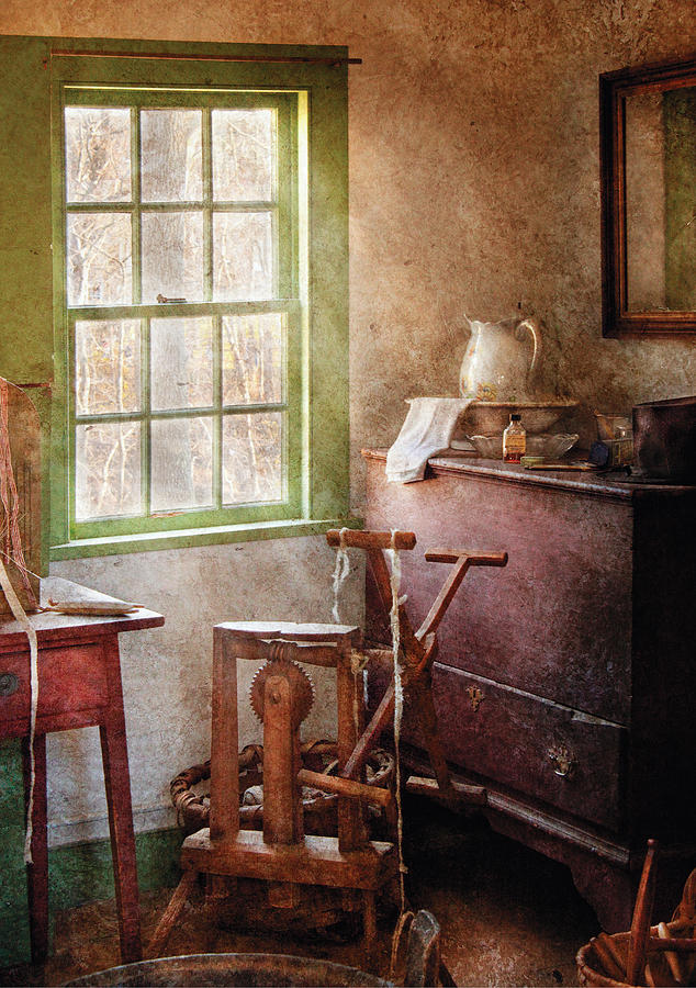 Savad Photograph - Weaving - In The Weavers Cottage by Mike Savad