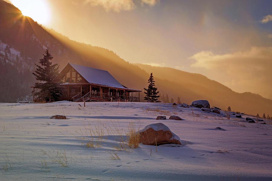 Weber Canyon Cabin Sunrise. Photograph