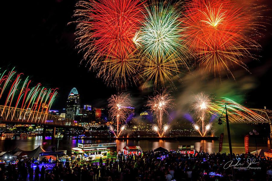 Firework Photograph - Webn Firework by Andrew Johnson