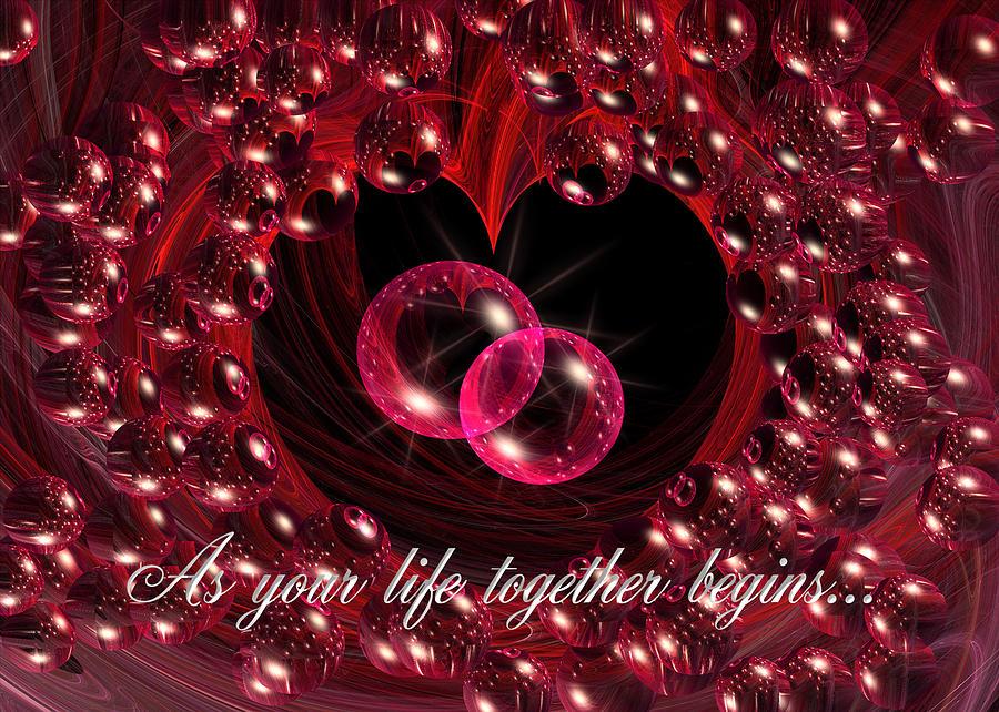 Wedding Congratulations Card Digital Art
