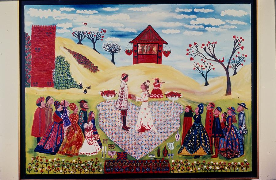 Parrots Painting - Wedding In Heartland by Carol Shumas