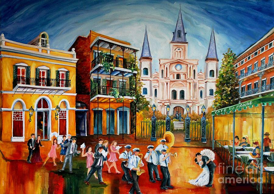 New Orleans Painting - Wedding New Orleans Style by Diane Millsap
