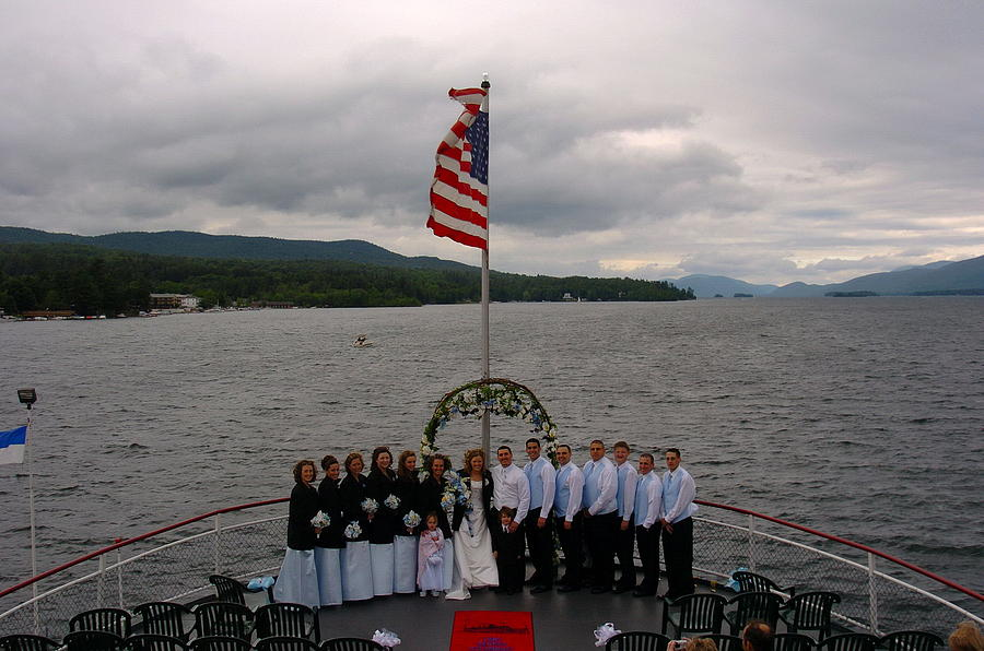 Wedding Party Photograph - Wedding Party On Cold Lake George Steamship by Mary Curtis