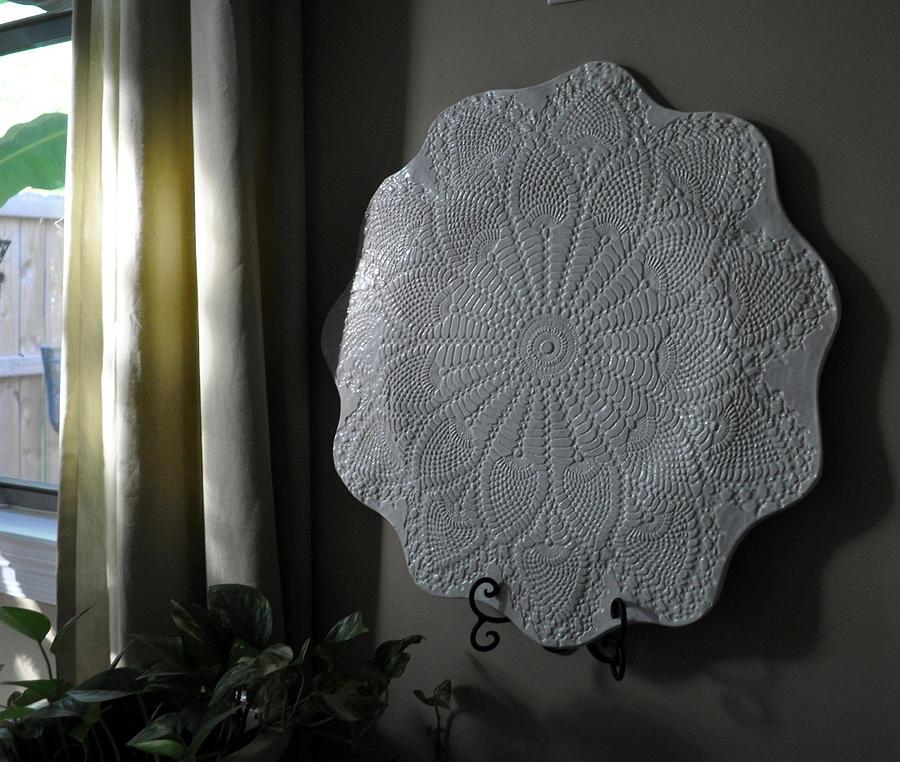 Wedding Ceramic Art - Wedding Plate Pottery by Amanda  Sanford