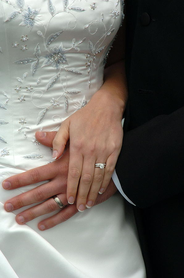 Wedding Photograph - Wedding Rings by Mary Curtis