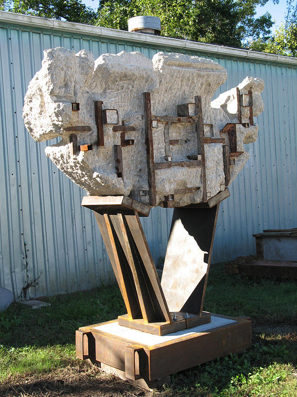 Sculpture Mixed Media - Wedged by John Northington
