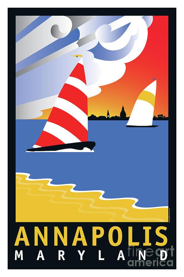 Sailing Digital Art - Wednesday Afternoon by Joe Barsin