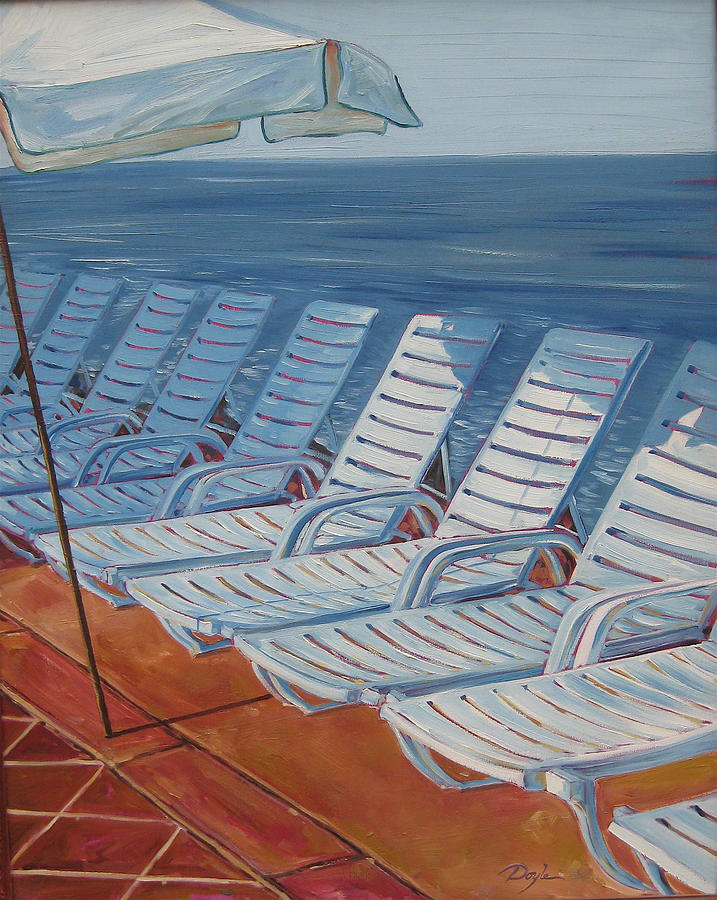 Ocean Painting - Wednesday Afternoon by Karen Doyle