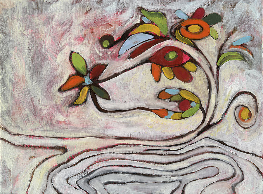 Abstract Painting - Weeds1 by Michelle Spiziri