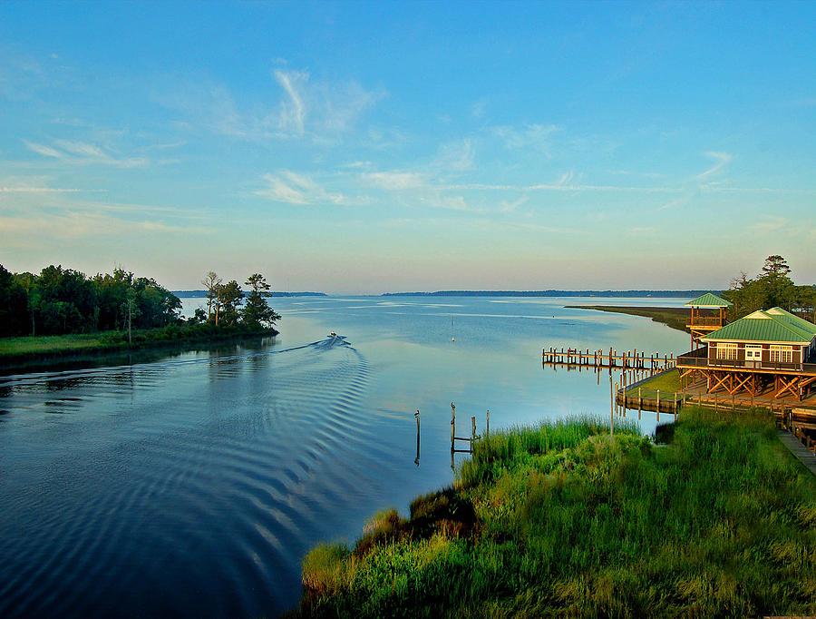 Alabama Painting - Weeks Bay Going Fishing by Michael Thomas