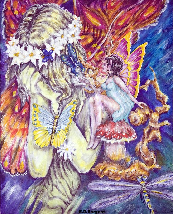 Butterflies Painting - Weeper by Eddie Sargent