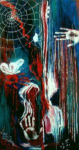 Expressionism Painting - Weeping Guitar by Lyuba Zahova