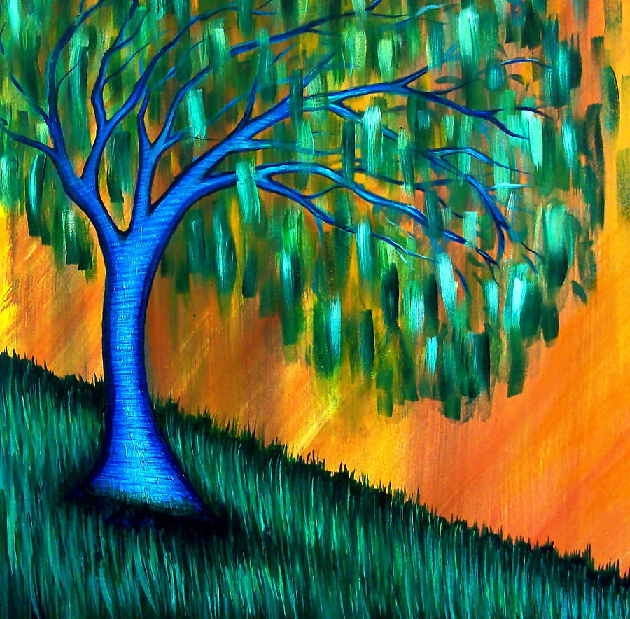 Weeping Willow Tree Painting - Weeping Willow by Brenda Higginson
