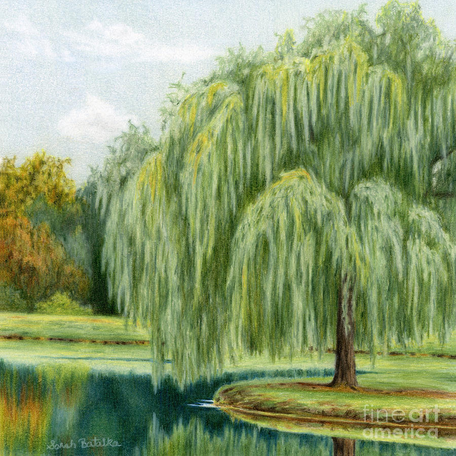Under the willow tree painting by sarah batalka willow trees painting under the willow tree by sarah batalka biocorpaavc Image collections