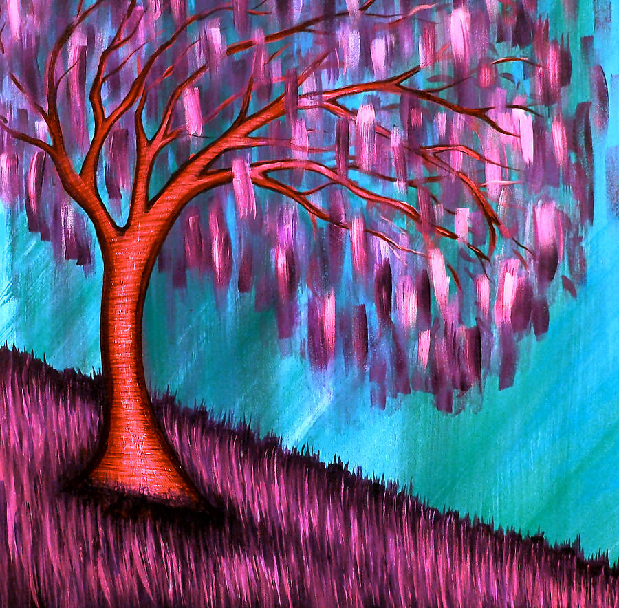 Weeping Willow Painting - Weeping Willow II by Brenda Higginson