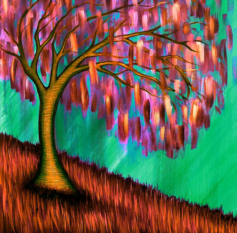 Tree Painting - Weeping Willow IIi by Brenda Higginson