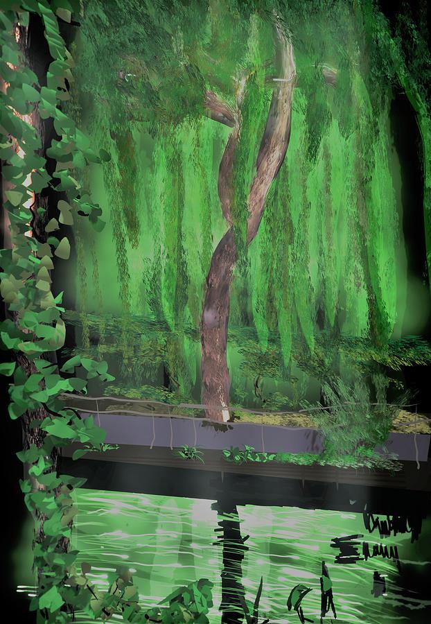 Digital Digital Art - Weeping Willow by Kab