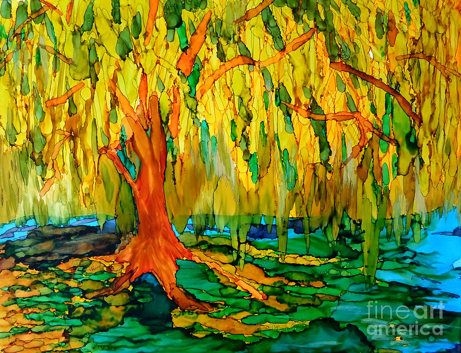 Weeping Willow Painting by Vicki Housel