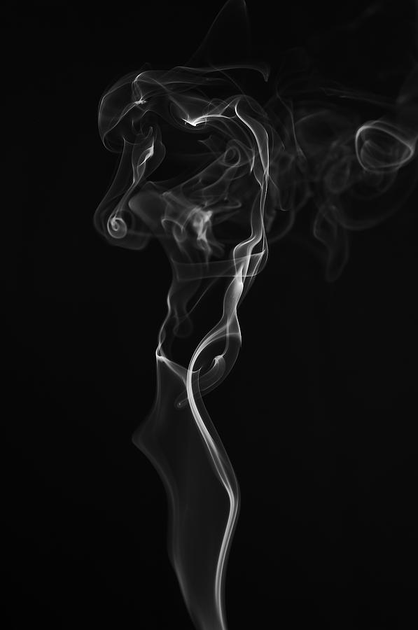 Smoke Photograph - Weeping Woman by Bryan Steffy