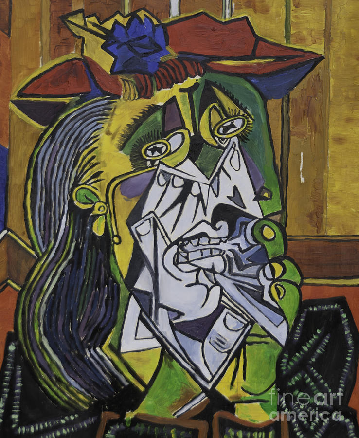 picasso 39 s weeping woman painting by james lavott. Black Bedroom Furniture Sets. Home Design Ideas
