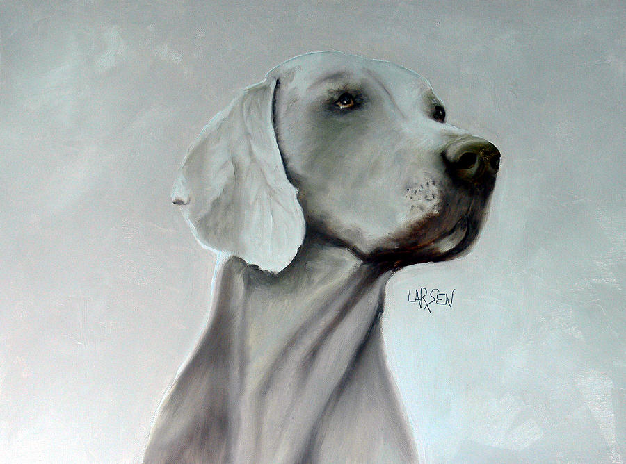 Weimaraner Painting by Dick Larsen