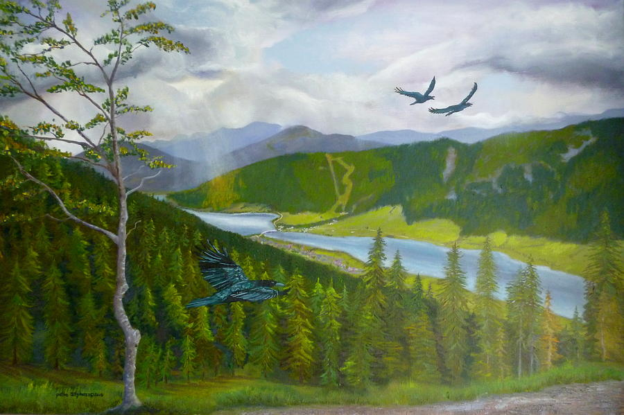 Weissensee with crows by Petra Stephens