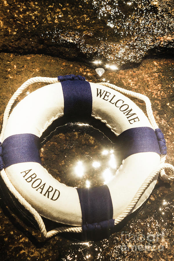 Life Buoy Photograph - Welcome Aboard Nautical Paradise by Jorgo Photography - Wall Art Gallery
