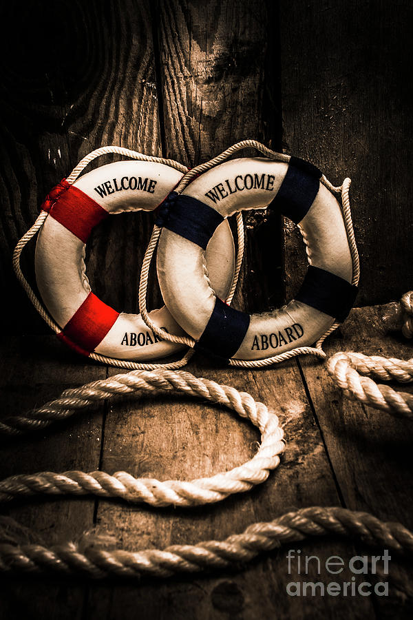 Lifebuoy Photograph - Welcome Aboard The Dark Cruise Line by Jorgo Photography - Wall Art Gallery