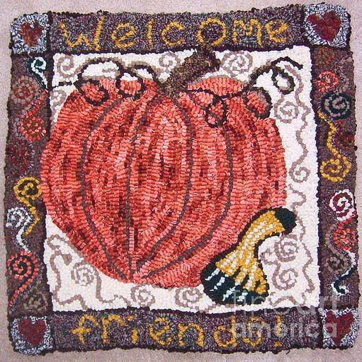 Welcome Tapestry - Textile - Welcome Friends by Maureen McIlwain