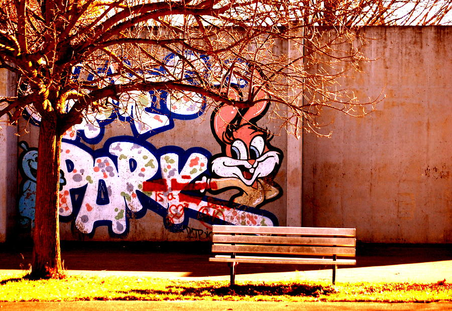 Bench Photograph - Welcome Here by Emily Stauring