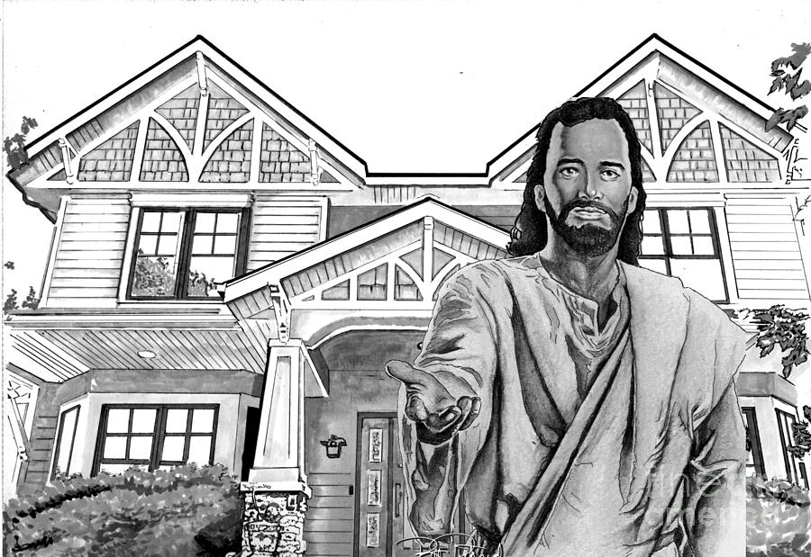 Christ Drawing - Welcome Home by Bill Richards