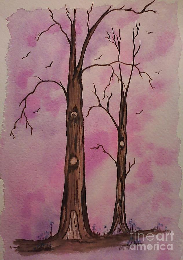 Trees Painting - Welcome Home by Ginny Youngblood