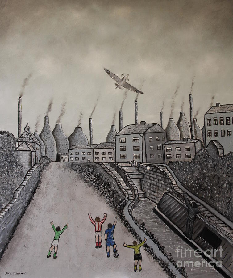 Spitfire Painting - Welcome Home by Paul Horton