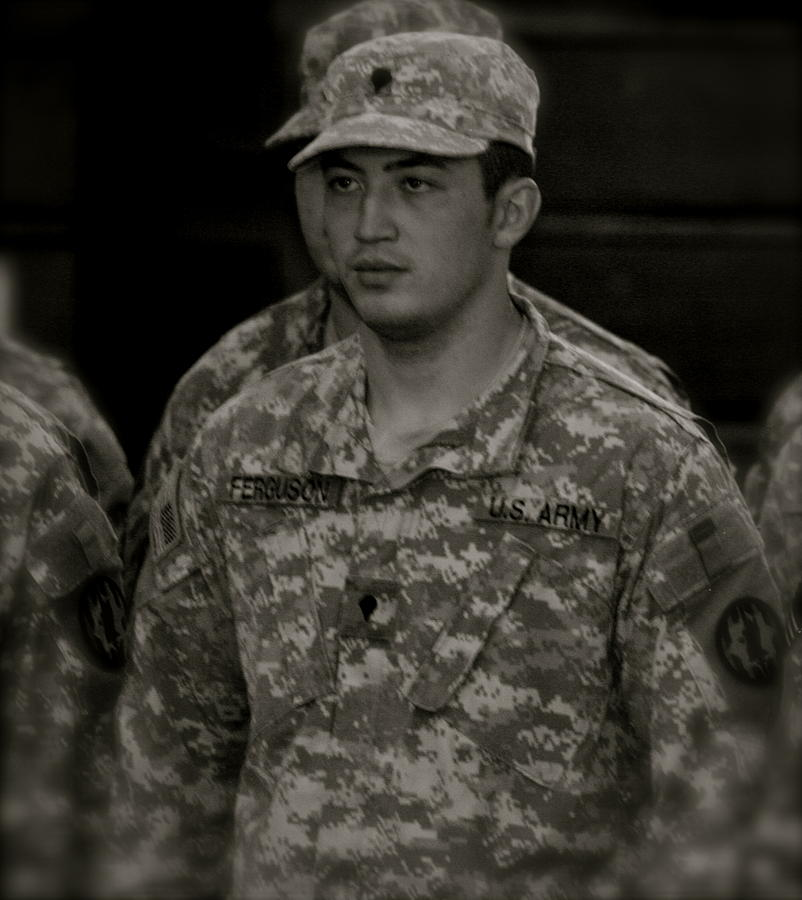 Portrait Photograph - Welcome Home Soldier by Aimee Galicia Torres