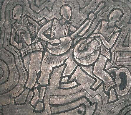 Sculpture Mural Relief - Welcome Home by Sylvester Banahene