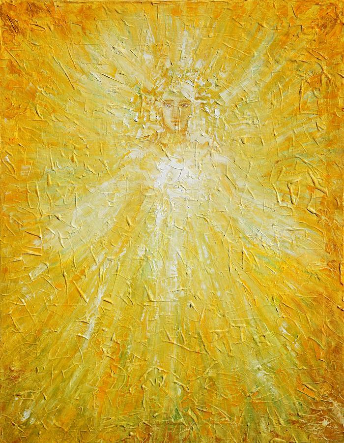 Angel Painting - Welcome by Kseniya Nelasova