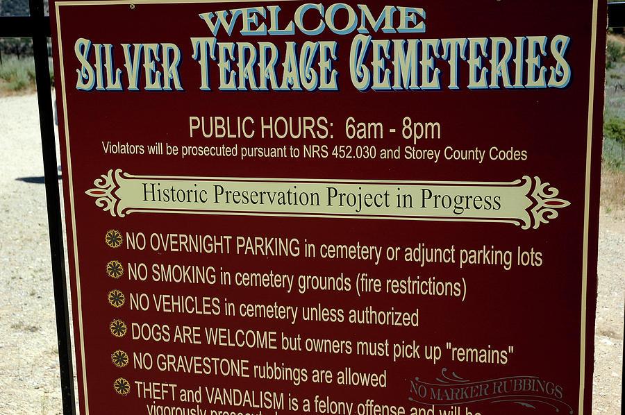 Usa Photograph - Welcome Silver Terrace Cemeteries by LeeAnn McLaneGoetz McLaneGoetzStudioLLCcom