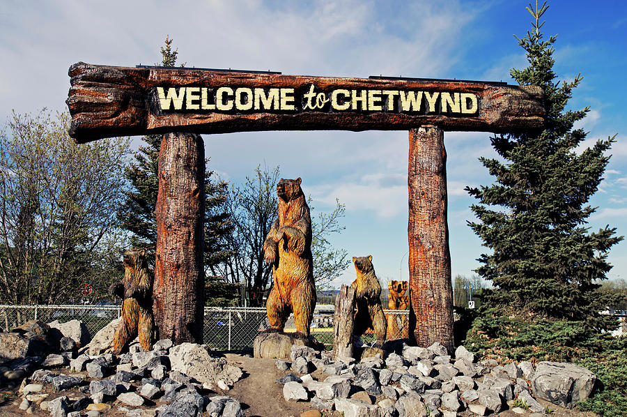Welcome Photograph - Welcome To Chetwynd by Robert Braley