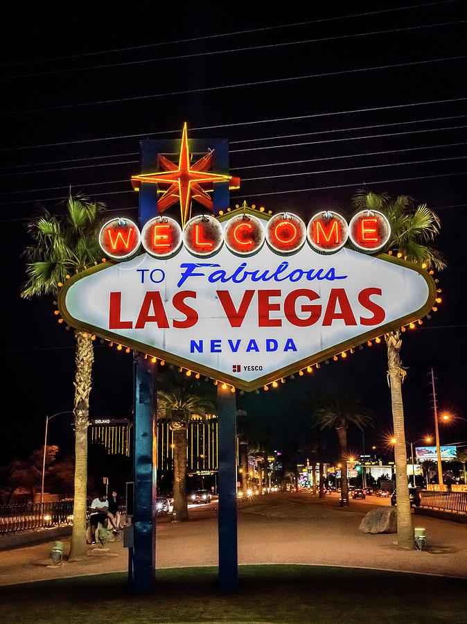 Welcome To Fabulous Las Vegas Photograph by Framing Places