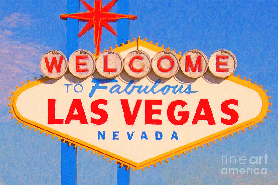 Las Vegas Photograph - Welcome To Fabulous Las Vegas Nevada by Wingsdomain Art and Photography