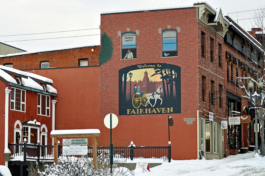 Brick Building Photograph - Welcome To Fairhaven by Matthew Adair