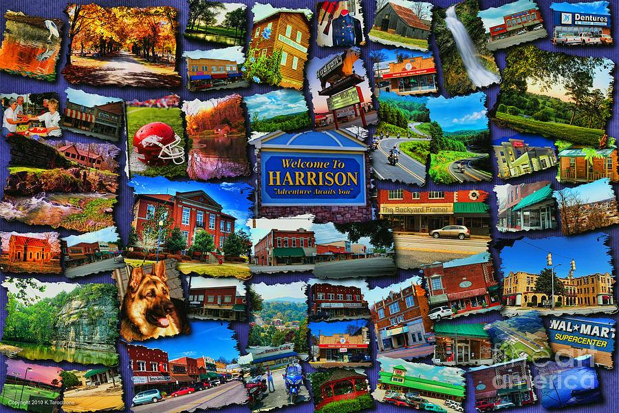 Harrison Digital Art - Welcome To Harrison Arkansas by Kathy Tarochione